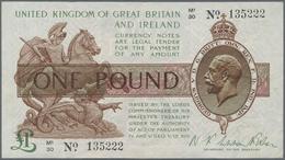 Great Britain / Großbritannien: United Kingdom Of Great Britain And Ireland 1 Pound ND(1922-23), P.3 - Gran Bretagna
