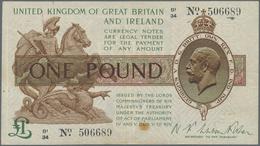 Great Britain / Großbritannien: United Kingdom Of Great Britain And Ireland 1 Pound ND(1928) With Si - Gran Bretagna