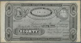Great Britain / Großbritannien: 80 Hours 1833 Remainder Note Of The National Equitable Labour Exchan - Gran Bretagna