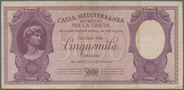 Greece / Griechenland: 5000 Drachmai ND(1941) P. M7, Vertical And Horizontal Folds, 3 Minor Border T - Griekenland