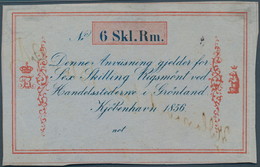 Greenland / Grönland: 6 Skilling 1856 Remainder P. A33r, Rare Note And Probably Unique As PMG Graded - Greenland