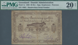 Greenland / Grönland: 50 Oere 1888 With Signature Stephensen And Petersen, P.1c, Rusty Spots And Tin - Greenland