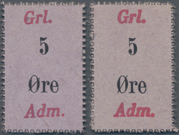 Greenland / Grönland: Pair Of The 5 Oere ND(1940's) Trade Certificate, Issued For American Troops In - Greenland