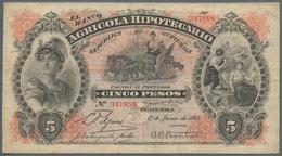 Guatemala: Banco Agrícola Hipotecario 5 Pesos 1917, P.S102c, Still Nice With Several Folds And Creas - Guatemala