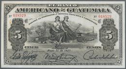 Guatemala: El Banco Americano De Guatemala 5 Pesos 1923, P.S117, Tiny Pinholes At Left And Right, Ot - Guatemala