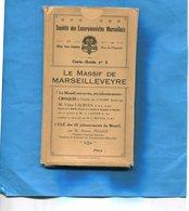 Carte En étui -dept 13-le Massif De Marseilleveyre1949-Sté Des Excursionnistes Marseillais +livret 38 Pages+ - Geographische Kaarten