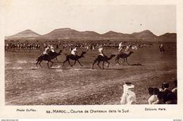 MAROC  SCENES ET TYPES  Course De Chameaux Dans Le Sud  ..... - Marocco
