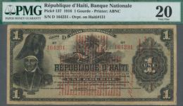 Haiti: 1 Gourde 1916 P.137 PMG 20 And 2 Gourdes 1914 P.132a PMG 15 (2 Pcs.) - Haïti