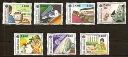 Zaire 1984 OCBn° 1224-1230 *** MNH Cote 11,00 Euro Communcations - 1980-89: Mint/hinged
