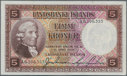 Iceland / Island: Landsbanki Íslands Lot With 3 Banknotes Of The L.15.04.1928 Second Issue With 2x 5 - Iceland