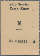 Iceland / Island: Camp Knox Ship Service Pair Of Two Vouchers 10 And 25 Aurar, P.NL In UNC Condition - Iceland
