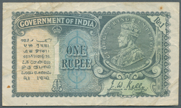 India / Indien: 1 Rupee 1935 With Watermark Portrai King George V, P.14a, Still Nice Condition With - India