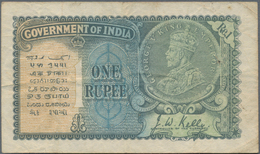 India / Indien: 1 Rupee ND(1928-35), P.14 In F/F+ - India