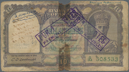 India / Indien: Seldom Seen Pair Of Notes Of 5 And 10 Rupees P. 18a, 24a Which Were Formerly Issued - India