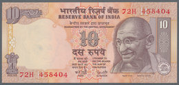 India / Indien: Set Of 17 Notes 10 Rupees ND P. 89a-e, All From Different Series And Several With Di - India
