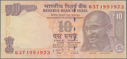 India / Indien: 10 Rupees 2013 P. 95g, Seldom Seen Error With 7 Digit Serial Instead Of The Usual 6 - India