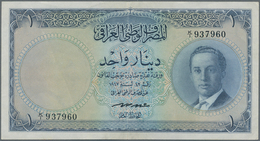 Iraq / Irak: Pair With 1/4 Dinar And 1 Dinar 1947, P.37, 39, Both Very Nice With Strong Paper And Br - Iraq