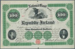 "Ireland / Irland: ""The Republic Of Ireland"" 100 Dollars 186x P. NL, Highly Rare And Seldom Seen High - Ireland"
