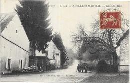 LA CHAPELLE SAINT MARTIAL: GRANDE RUE - Francia