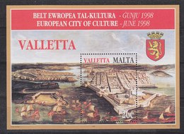 Malta 1998 Valletta, European City Of Culture M/s ** Mnh (42756) - Malta