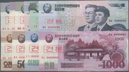 Korea: Set With 10 Specimen Series 2002-2013 With 5, 10, 50, 100, 200, 500, 1000, 2000 And 5000 Won - Korea, South