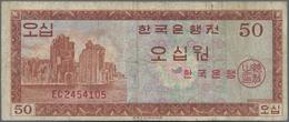 Korea: 50 Won ND(1962), P.34a In F/F- - Korea, South
