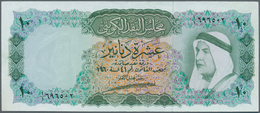 Kuwait: 10 Dinars L.1960 P. 5 In Usual Crisp And Original Condition And Very Rare Issue. The Note Wa - Kuwait