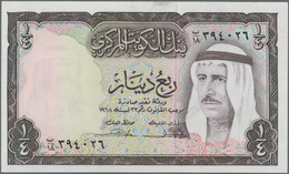 """Kuwait: Central Bank Of Kuwait, Pair Of 1/4 And 1/2 Dinar Of The L. 1968 """"Sheikh Sabah Ibn Salim Al- - Kuwait"""