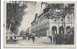 Torino - Stazione Di Porta Nuova. Insegna Birra Bosio & Caratsch Sulla Destra. Tram. - Stazione Porta Nuova