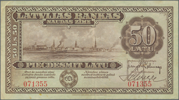 Latvia / Lettland: 50 Latu 1924, P.16a, Extraordinary Rare Banknote In Great Original Shape And Brig - Latvia
