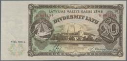 Latvia / Lettland: 20 Latu 1936 P. 30b, Light Handling In Paper, No Visible Folds, Crispness And Ori - Latvia