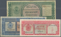Libya / Libyen: Set Of 3 Banknotes Containing 1/4, 1 & 5 Pounds L.1963 P. 28, 30, 31, All Used With - Libya