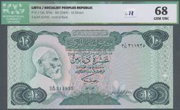 Libya / Libyen: 10 Dinars ND(1984) Socialist Peoples Republic P. 51, S/N 311935, In Crisp Original C - Libya