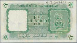 Libya / Libyen: MILITARY AUTHORITY OF TRIPOLITANIA 500 Lire ND(1943) P. M7, Key Note Of This Series, - Libya