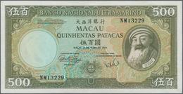 Macau / Macao: Banco Nacional Ultramarino500 Patacas 1984, P.62 In Perfect UNC Condition - Macau