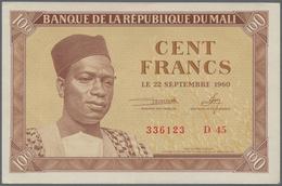 Mali: 100 Francs 1960 P. 2 In Condition: AUNC. - Mali