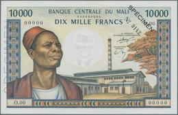 Mali: Banque De La République Du Mali 10.000 Francs ND(1970-84) SPECIMEN, P.15s, Great Original Shap - Mali