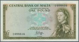 Malta: 1 Pounds ND(1969) P. 29a, Crisp And Colorful Condition: AUNC. - Malta