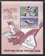 TOGO BLOC N°  110 ** MNH Neuf Sans Charnière, TB (CLR471) Cosmos, Navette De L'espace - 1977 - Togo (1960-...)