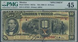 Mexico: El Banco De Londres Y Mexico 10 Pesos ND(1900-13) SPECIMEN, P.S234s1, Highly Rare And Seldom - Mexico