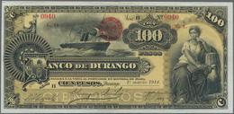 Mexico: El Banco De Durango 100 Pesos 1914, P.S277a, Stronger Vertical Fold At Center And A Few Mino - Mexico