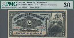 Mexico: El Banco De Guanajuato 2 Pesos 1914, P.S288a, Lightly Toned Paper With A Few Soft Folds, PMG - Mexico