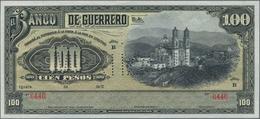 "Mexico: Banco De Guerrero 100 Pesos 19xx Remainder, P.S302sr, Perforated ""AMORTIZADO"", Soft Vertical - Mexico"