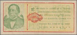 Mexico: Tesorería General Del Estado De Oaxaca Pair With 5 Pesos 1915, 1916, P.S593e, S954 In F/VF C - Mexico