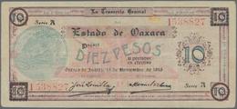 Mexico: Tesorería General Del Estado De Oaxaca 10 Pesos 1915, P.S957a In About XF Condition. - Mexico