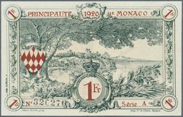 Monaco: 1 Franc 31.12.1922 P- 5. Principavte De Monaco, S/N #326276 Serie A, With Crisp Original Pap - Monaco