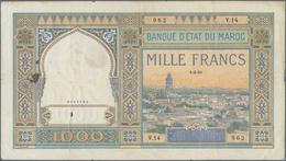 Morocco / Marokko: Banque D'État Du Maroc 1000 Francs 1921, P.16a, Still Nice For The Large Size For - Morocco