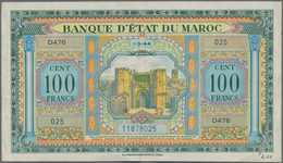 Morocco / Marokko: Set Of 2 Notes Containing 50 & 100 Francs 1943/44 P. 26, 27, Both In Similar Cond - Morocco