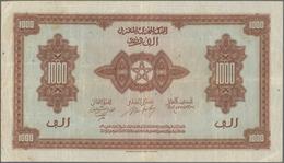 Morocco / Marokko: Banque D'État Du Maroc 1000 Francs 1943, P.28, Great Condition For This Large Siz - Morocco
