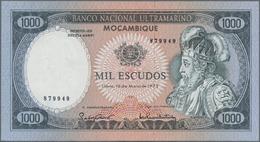Mozambique: Banco Nacional Ultramarino 1000 Escudos 1972 With Small Digit Serial Number, P.112b In U - Mozambique